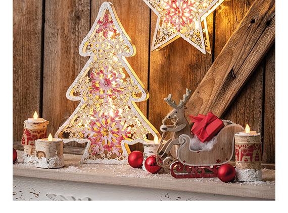 50x Deko Schneeflocken Holz Weihnachtsdeko Basteln Streuteile